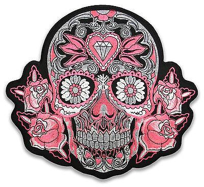 KING SIZE XL Sugar Skull Psychobilly Tattoo Aufnäher Aufbügler Patch Sticker NEU