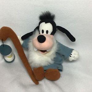 "Disney Goofy Father Time Plush Bean Bag Soft Toy Stuffed 10"""