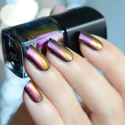 BORN PRETTY 6ml Chameleon Holo Nail Polish Varnish (Black Base Color Needed)#205