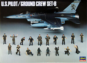 Hasegawa-X48-5-U-S-PILOT-GROUND-CREW-SET-B-1-48-scale-kit
