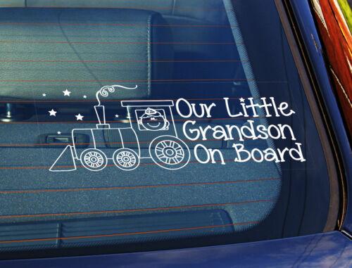 La estática coche ventana sign//decal nuestro nieto Tren 100mm X 250 Mm 13
