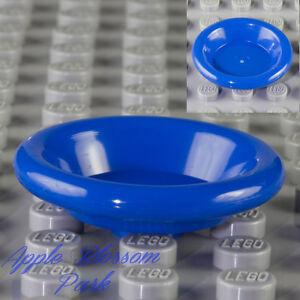 NEW Lego Friends/Belvil<wbr/>le BLUE DISH 3x3 Utensil Minifig Kitchen Food Bowl Plate
