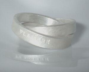 2er-Ring-2-teiliger-Ring-Silber-999-ca-12-Gramm-Flamere-Design