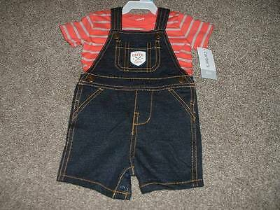 Carters 6 Months Baby Boys Little Cute Crew Shortall Set Outfit Size 6M NWT $28