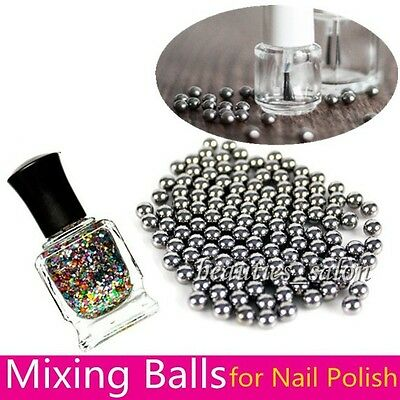 1Bag 5mm Nail Art Polish Mixing Balls Stainless Steel Beads for Glitter Polish