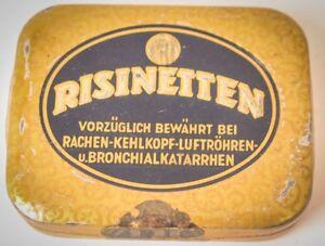 Old Tin Can Risinetten Hustenbonbon Advertisement Advertising Antique