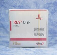 new sealed IOMEGA REV 70GB disk PC/Mac removable media 70 gb