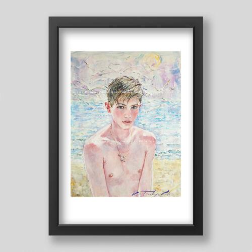 "Kirill Fadeyev authored PRINT /""VIRGINITY/"" 13x19 inch nude gay gayart art  men"