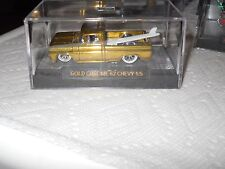 HOTWHEELS 2017 RALPHS CUSTOMS 62 CHEVY TRUCK GOLD CHROME RIMS 1/5 WHITEWALL