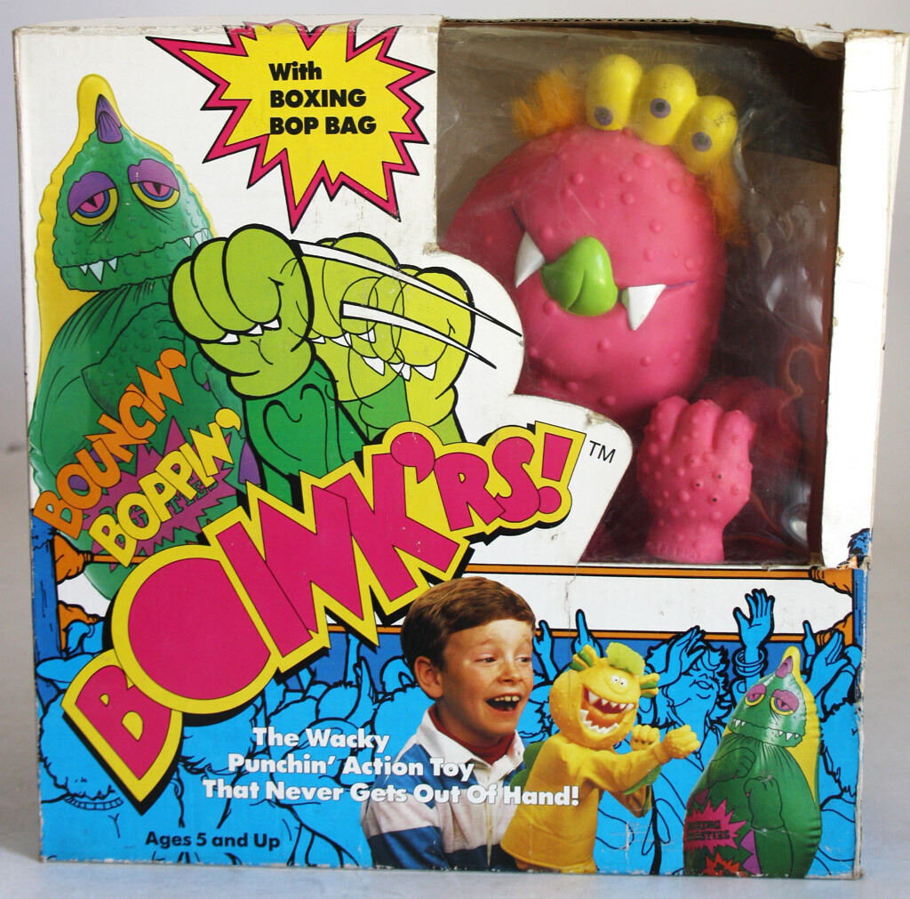 VERY RARE VINTAGE 1987 BOINK'RS BOINKERS BOXING PUPPET R ROWDY ROT NEW MIB