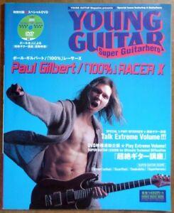 100-RACER-X-JAPAN-YOUNG-GUITAR-MAG-SCORE-TAB-PAUL-GILBERT-w-DVD