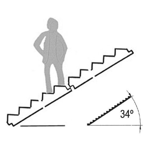 weiß 1,98€//Stück 1:100 Schulcz 2er Pack Treppenplatte 34° 54 x 100 mm