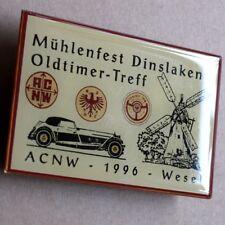 MÜHLENFEST Alte Auto Kupferplakette Wesel Dinslaken 1996 OLDTIMER ACNW ADAC DAMF