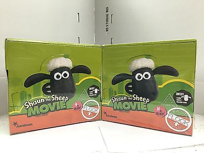 Shaun the Sheep The Movie Characters/' Figures in Blind Bags x 2 BOXES 38 x 2