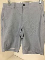 Penguin By Munsingwear Men's Chino Micro Stripe Shorts Crystal Blue Sz 29
