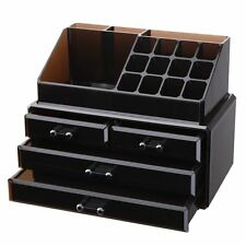 Tawny Acrylic Makeup Cosmetic Jewelry Organizer Storage 4 Drawers Top Display