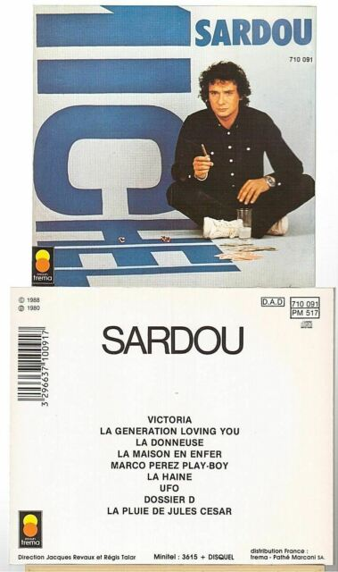 Michel Sardou Victoria Cd Album édition - pressage de 1988 Trema