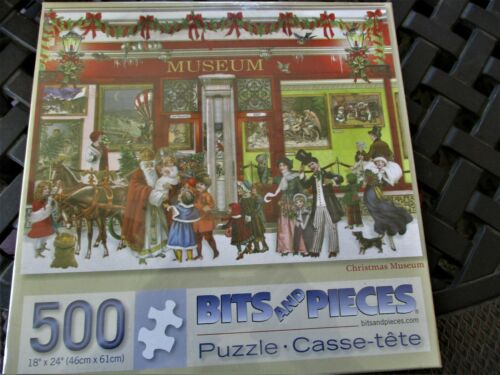 "500 Piece Barbara Behr Art Puzzle /""Christmas Museum /""  New 18/"" x 24/"""