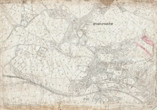 Low Fold Horsforth Yorkshire map 202-11-1893