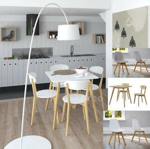 Scandinavian Retro Kitchen Furniture Dining Large Table Chair Set ...
