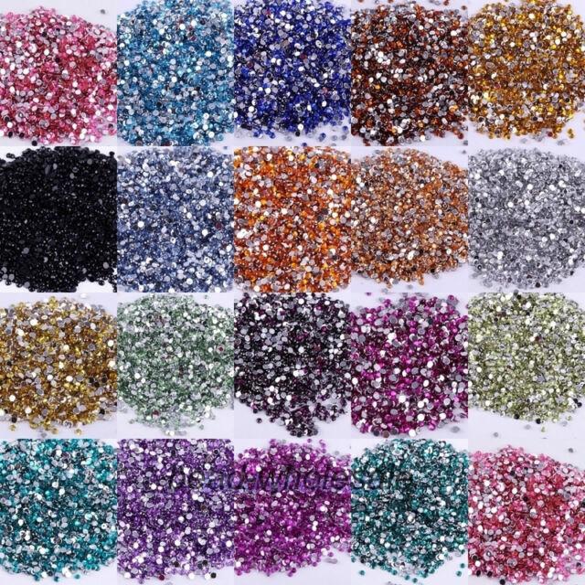 2000pcs Faceted Crystal Rhinestone Half Round Flatback Beads Jewelry Finding DIY