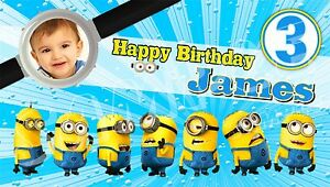 despicable me minions birthday banner personalized custom design