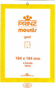 Package of 4 Prinz BLACK Mounts 184 x 184