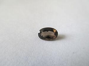 .37ct Loose Oval Cut Smokey Quartz 9 x 7 x 4.8mm