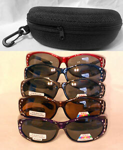 LADIES WOMEN SUNGLASSES POLARIZED FIT OVER 100% UV WEAR OVER RX ... 16e7f13fd6