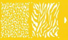 Flexible Reusable Stencil Cake Wall Airbrush Drawing Template Animal Print