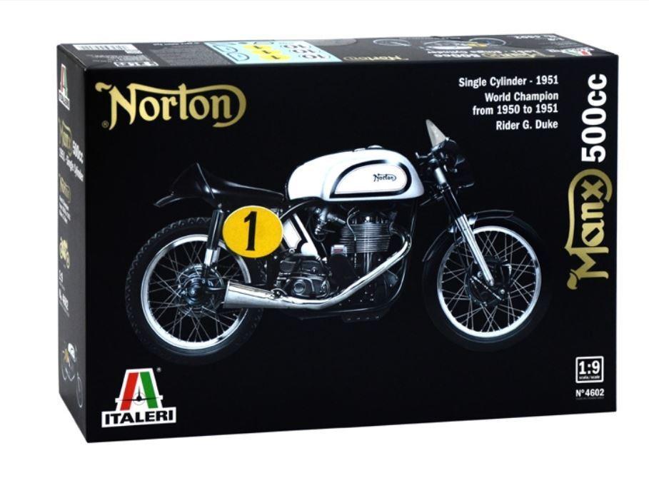 Norton manx 500cc motorbike plastic kit 1 9 model 4602 italeri