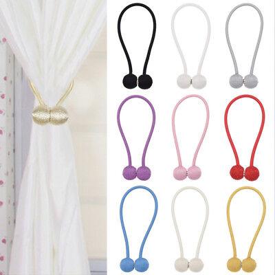 Round Ball Magnetic Curtain Buckle Tieback Drapery Holdback Clip Home Decor 1pc