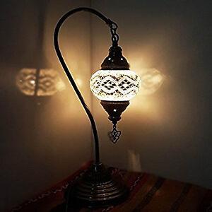 Turkish-Marocain-colore-Lampe-Lumiere-Tiffany-Bureau-En-Verre-VENDEUR-ANGLAIS