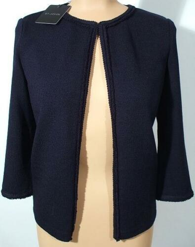 Nwt St. John Knits Navy Blue Santana Knit Jacket Blazer Sz 6 $1380 by St. John