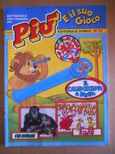 PIU e il suo Gioco n°21 1983 Ed. Domus  [G416]
