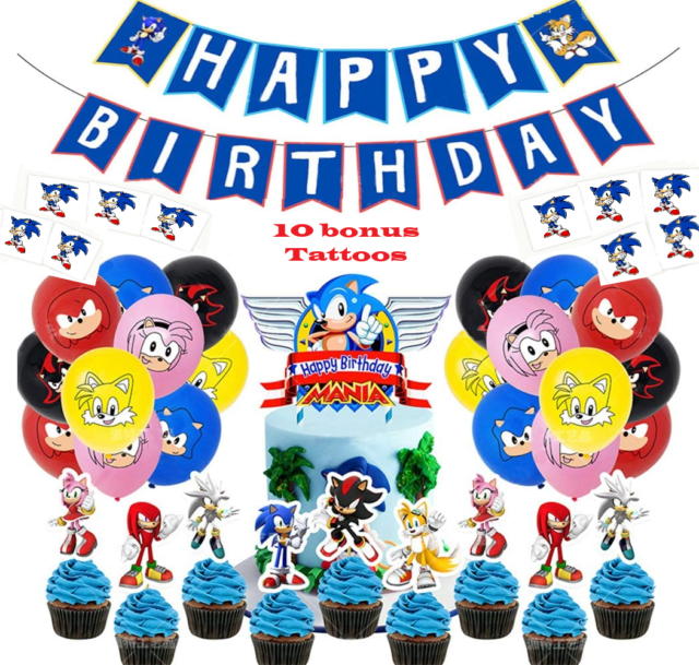 Sonic The Hedgehog Party Supplies 8 Pack Invitations For Sale Online Ebay