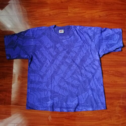 Vintage Nike Purple All Over Print Weather Map Gra