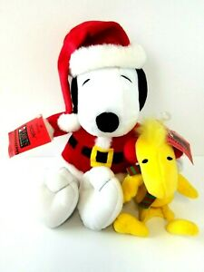 Snoopy-and-Woodstock-Hallmark-Peanuts-Collection-Plush-Vintage-Christmas-w-Tags