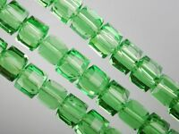 6x6x6mm Faceted Square Cube Cut Glass Crystal Beads for Jewellery Making Craft