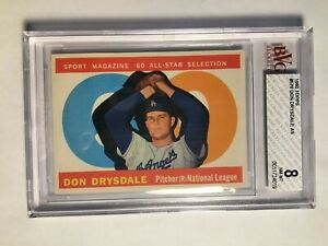 1960-Topps-570-Don-Drysdale-AS-BVG-8-NM-MT-Los-Angeles-Dodgers-PSA-Fresh-Graded