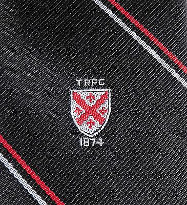 Teignmouth RFC tie Rugby Football Club South Devon sport black red white TRFC