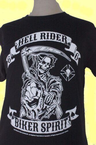 * * T-shirt manche courte homme 100/% coton Hell Rider Biker Spirit