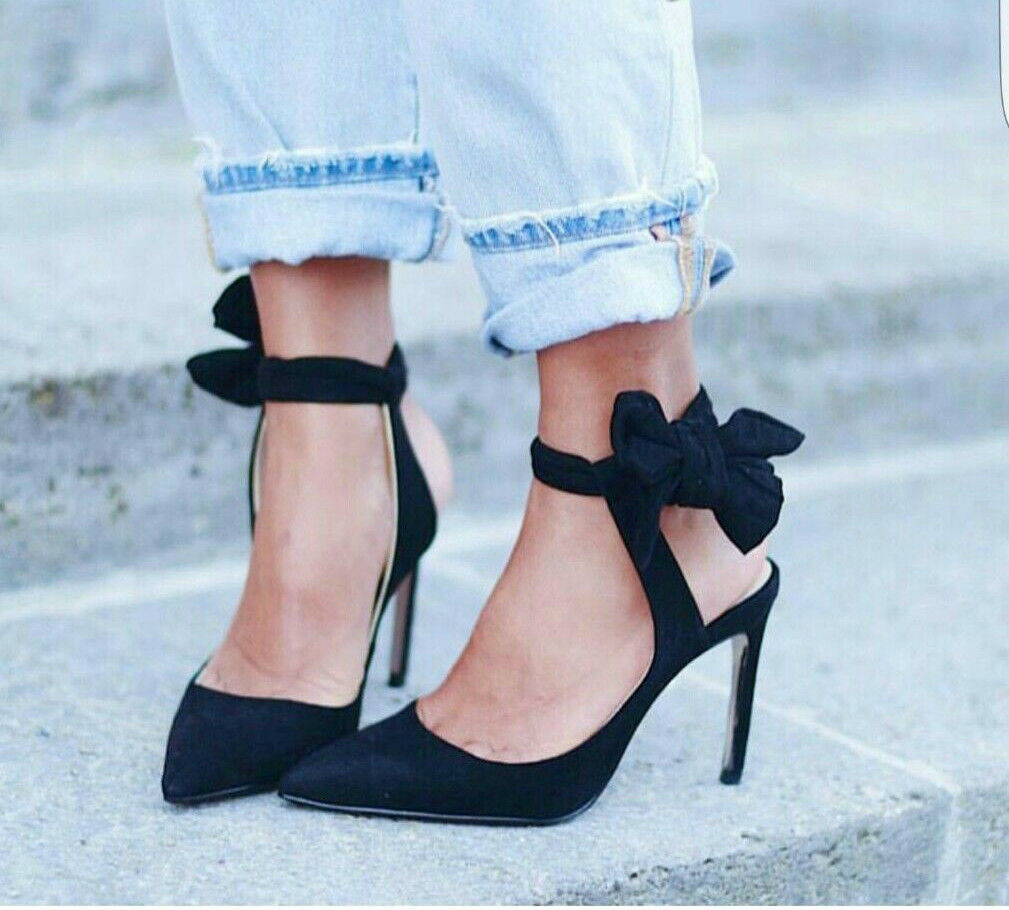 ZARA WITH SLINGBACK HIGH HEEL Schuhe WITH ZARA BOW 36 37 39 ed845b