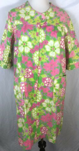Vintage 1960s Miss Holly 100% Cotton Mod House Dre