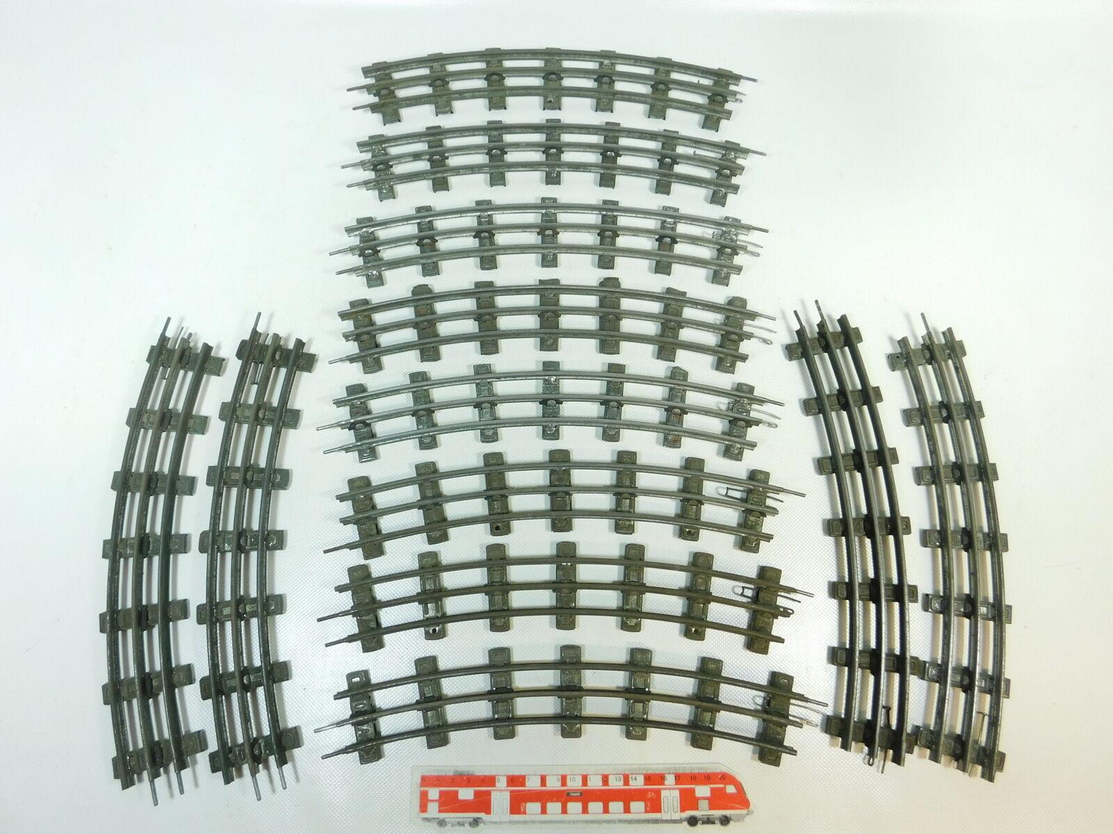BR645-2x Märklin Progress Spur 0 Gleis gebogen 12er Kreis für elektr Betrieb