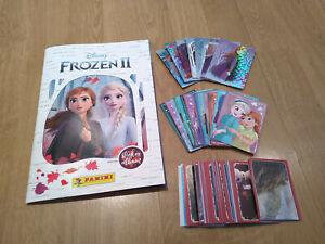 PANINI FROZEN II 2 UNUSED STICKER COLLECTION ALBUM & 100+ DIFFERENT STICKERS NEW