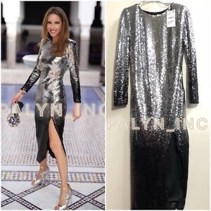 1181504614 Image is loading NWT-ZARA-AW18-OMBRE-MIDI-SEQUIN-DRESS-0387-