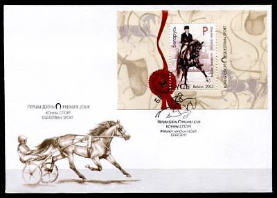 Pferde. Dressur. Fdc. Block. Weißrußland 2011 Ausgezeichnet Im Kisseneffekt