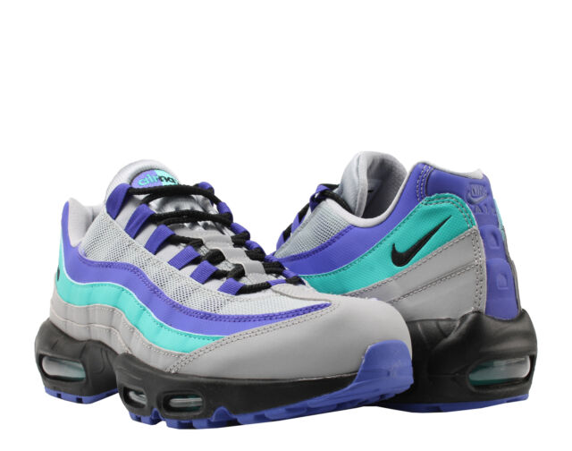 Nike Air Max 95 OG Aqua Mens At2865 001 Grey Indigo Burst Running Shoes Size 10