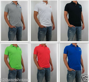 e55f9947b NWT HOLLISTER HCO By Abercrombie Men Muscle Slim Fit Redondo Polo T ...